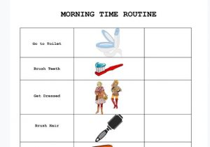Morning time routine for children